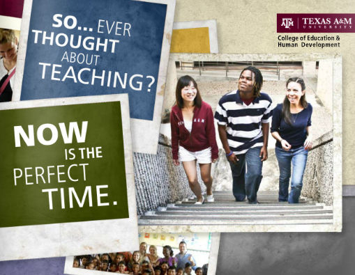 Content strategy + copywriting | Aggie Teacher Recruitment brochure