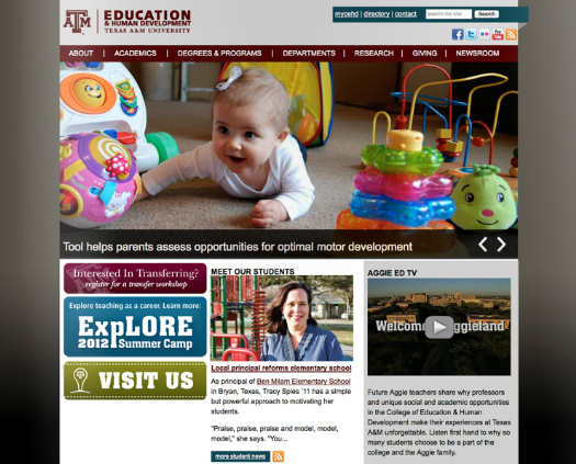 Web content strategy | Texas A&M College of Education & Human Development website