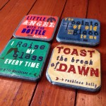 DIY: Texas Country song lyric coasters