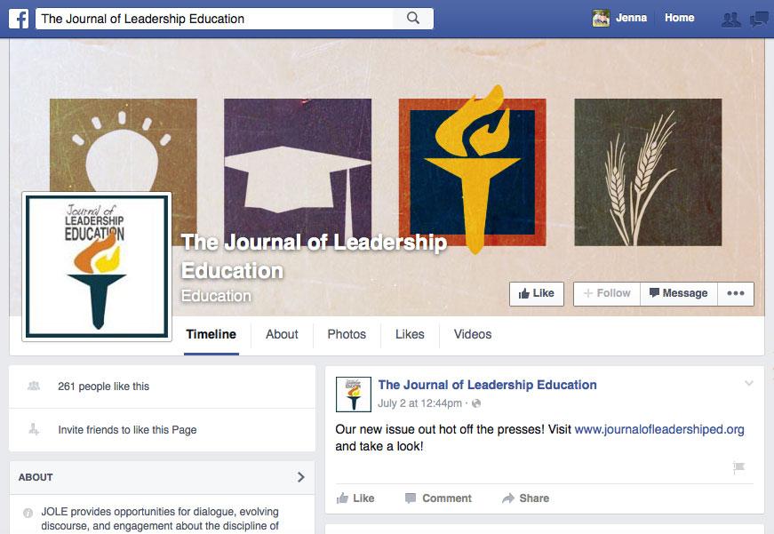 Meet the Journal of Leadership Education